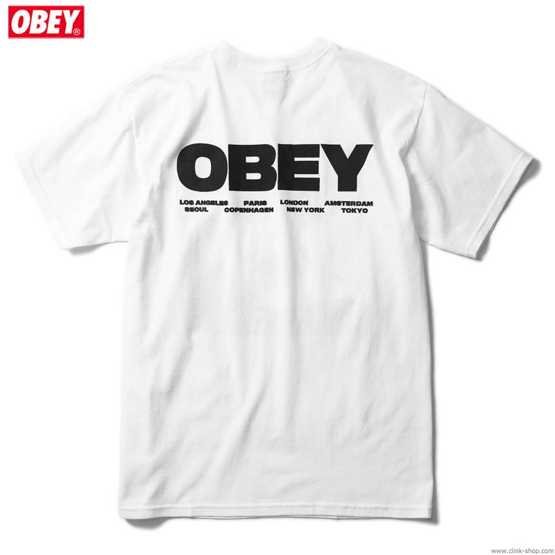 """OBEY BASIC TEE """"BOMB THE PLANET"""" (WHITE)"""