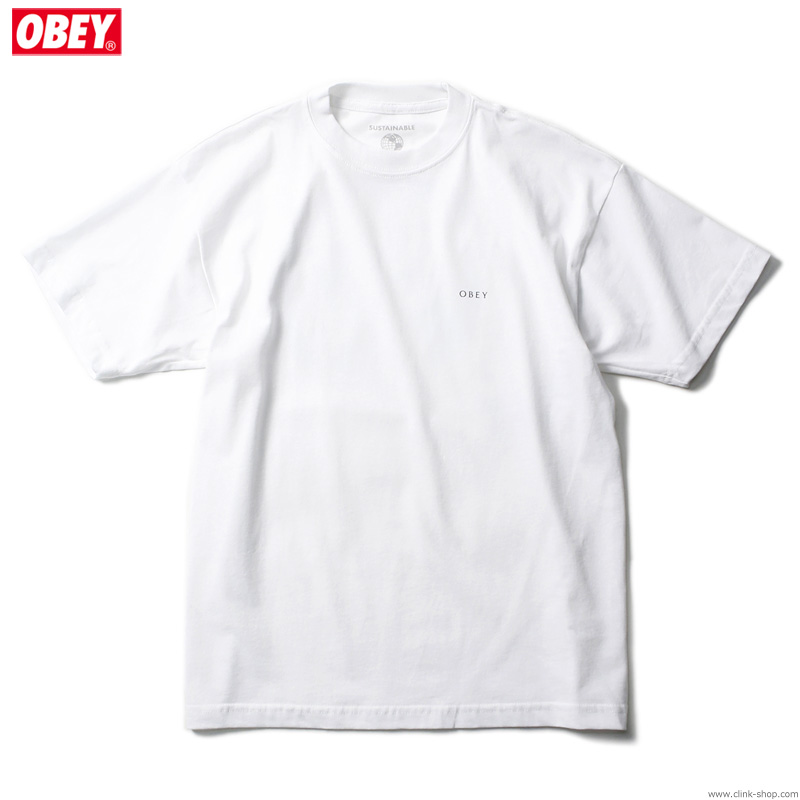 """OBEY SUSTAINABLE TEE """"OBEY GEOMETRIC FLOWER 2"""" (WHITE)"""