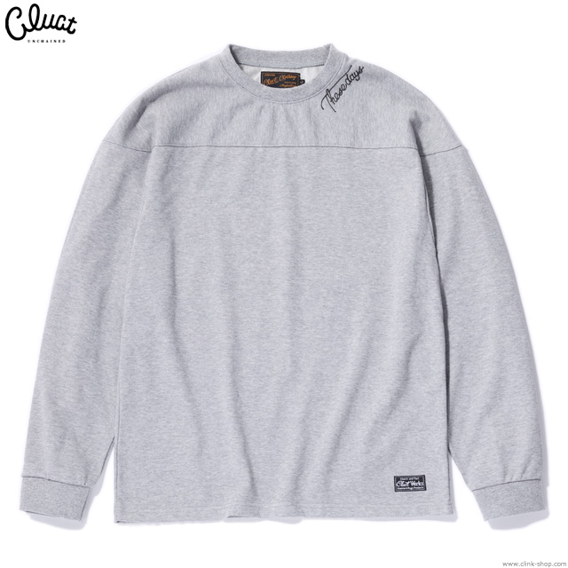CLUCT L/S EMBRIDERY CREW SWEAT (H.GRAY) #02924