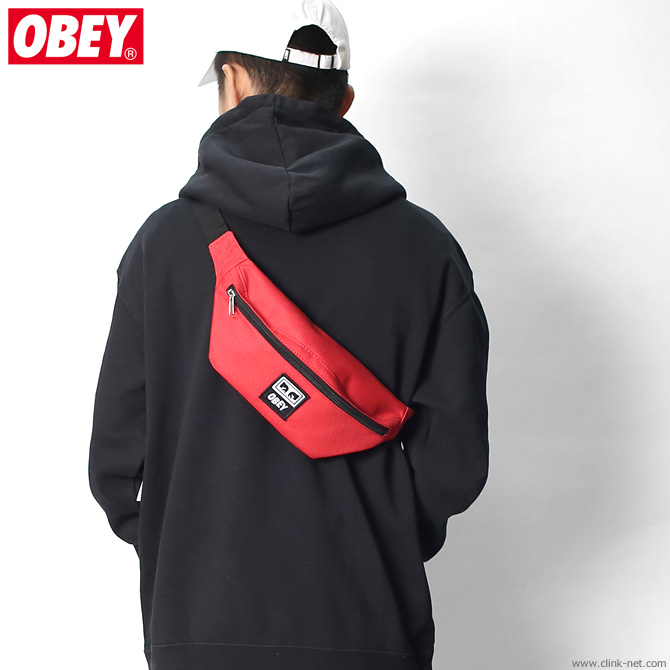 OBEY DAILY SLING BAG (HOT RED)