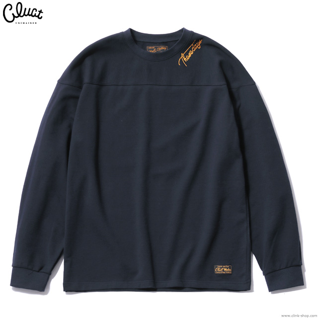 CLUCT L/S EMBRIDERY CREW SWEAT (NAVY) #02924