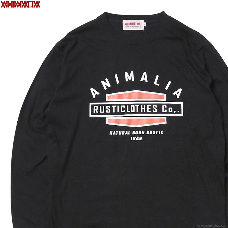 "ANIMALIA ""NATURAL BORN RUSTIC"" L/S TEE (BLACK) [AN20A-TE05]"