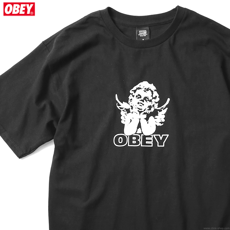 """OBEY BASIC TEE """"LOVE IS IN THE AIR"""" (BLACK)"""
