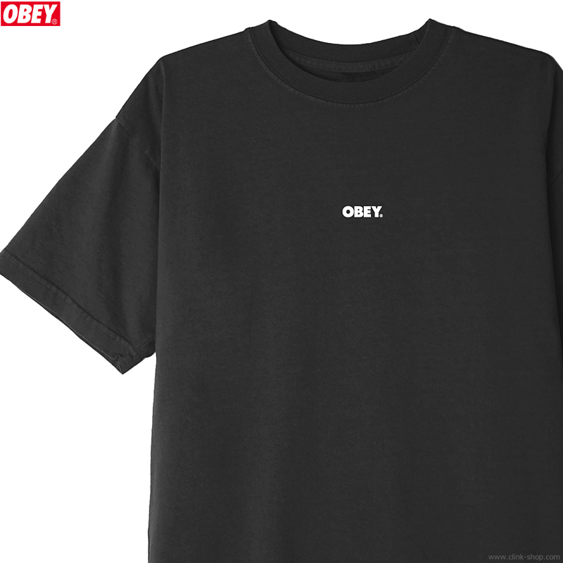 "OBEY CLASSIC TEE ""OBEY BOLD MINI"" (BLACK)"
