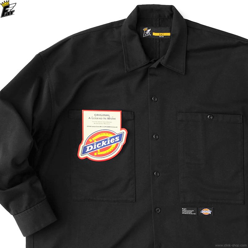 """FAT × Dickies """"BIGGISH"""" (BLACK) [F32120-SH11]"""