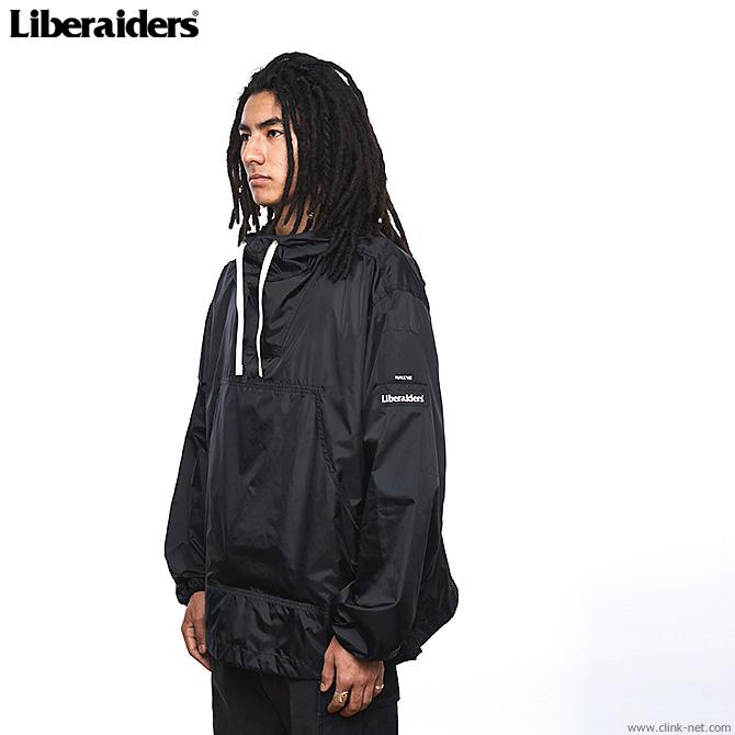 LIBERAIDERS LR NYLON RIP-STOP ANORAK (BLACK) #71002