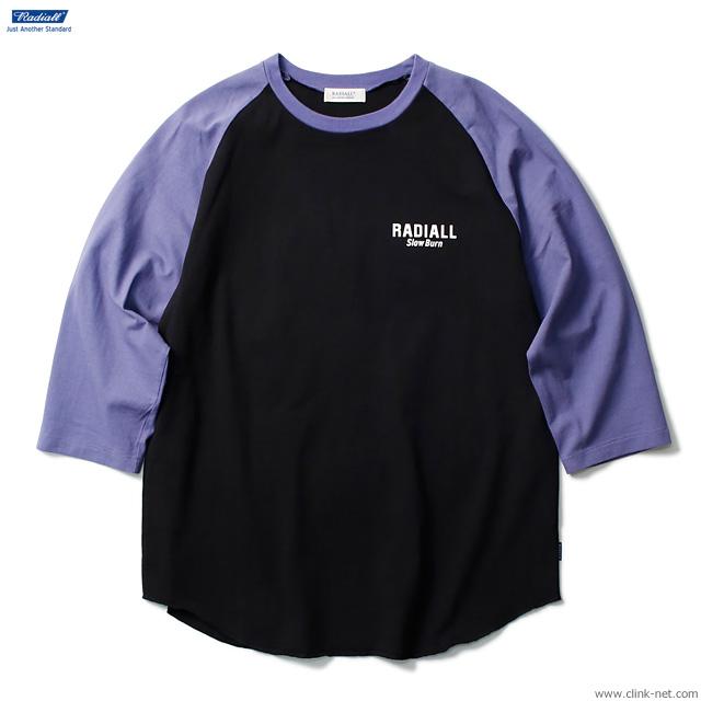 RADIALL SLOW BURN - CREW NECK T-SHIRT 3Q/S (BLACK)