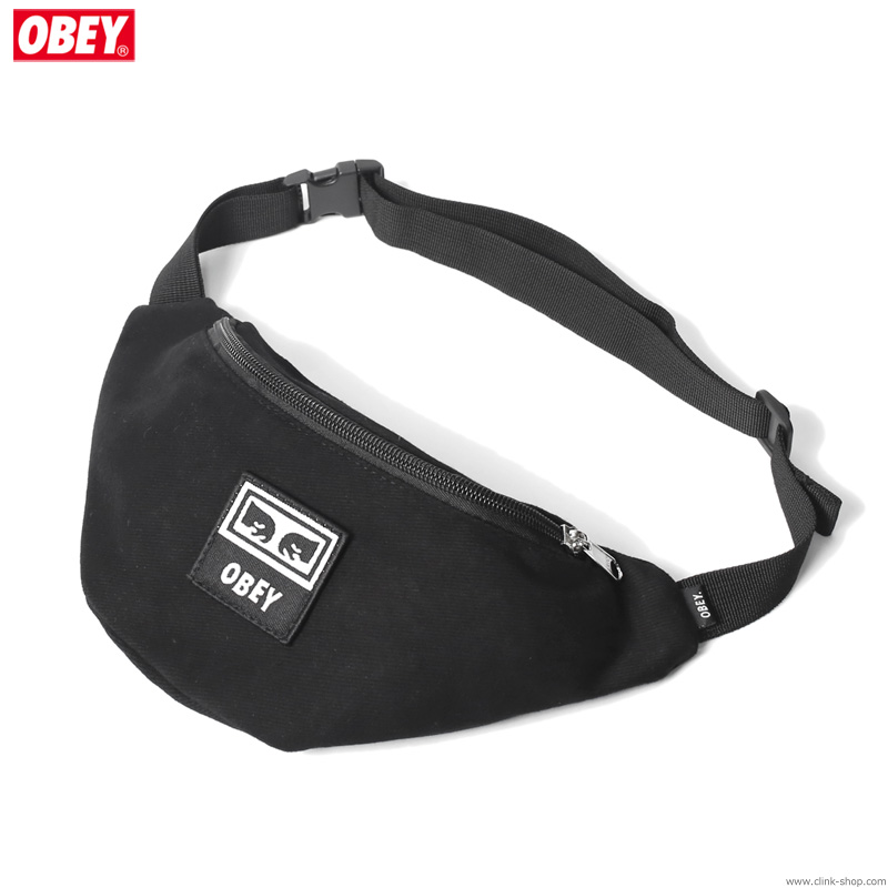 OBEY WASTED HIP BAG (BLACK TWILL)