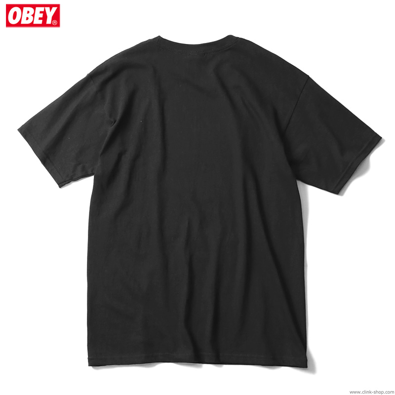"""OBEY BASIC TEE """"PAY UP OR SHUT UP"""" (BLACK)"""