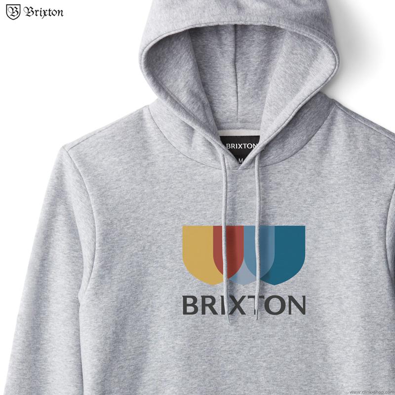 BRIXTON ALTON II HOOD (HEATHER GREY)