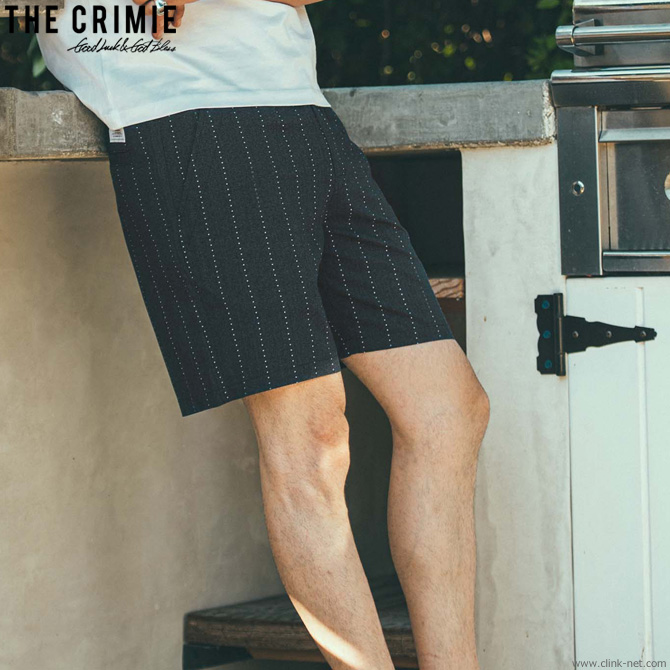 CRIMIE STAR STRIPE WASHABLE RAYON SHORTS (BLACK) [CR01-02L1-PS07]