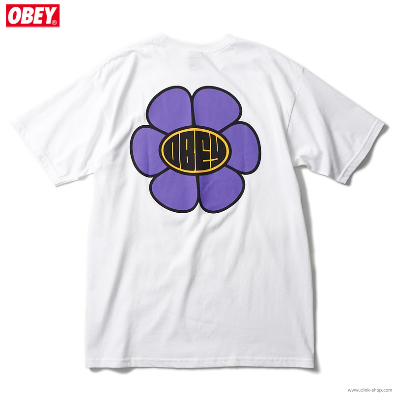 "OBEY BASIC TEE ""DAISY AVE."" (WHITE)"
