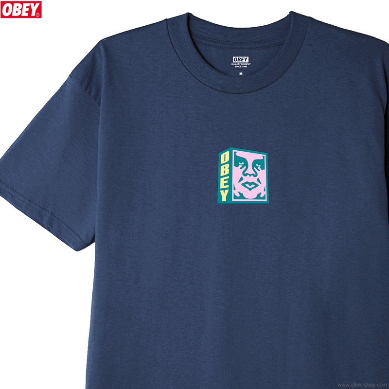 """OBEY CLASSIC TEE """"OBEY FACE"""" (NAVY)"""