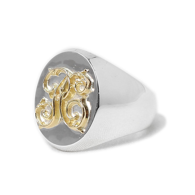 PEANUTS & CO. SIGNET RING - LARGE - (K18×SILVER)
