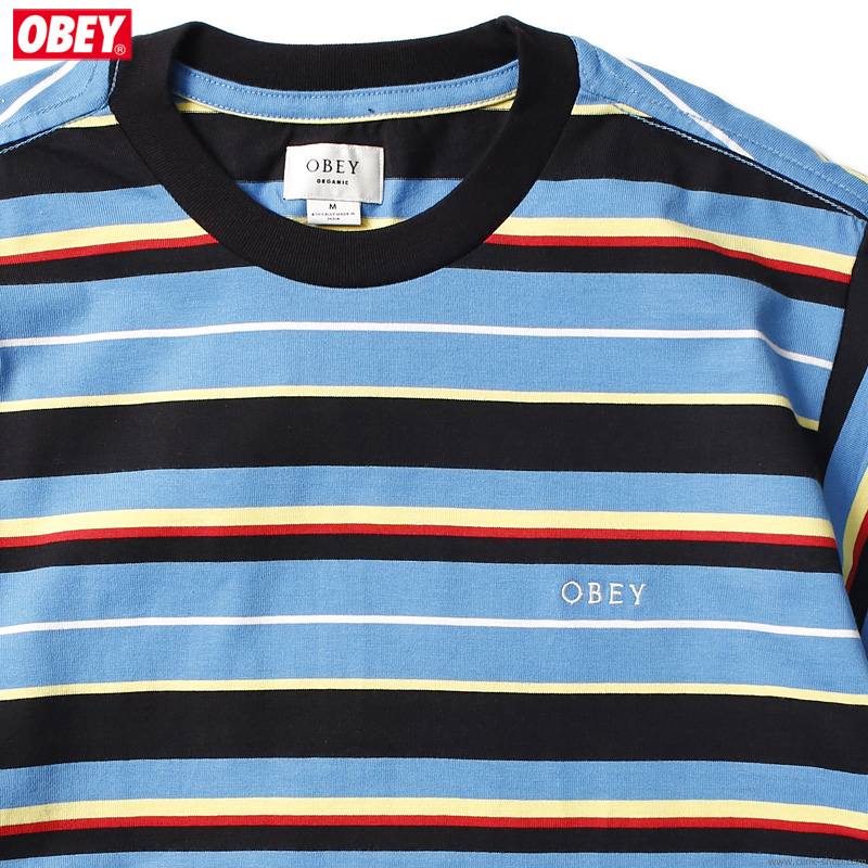 SALE 30%OFF OBEY IDEALS ORGANIC DALE TEE SS (BLUE MULTI)