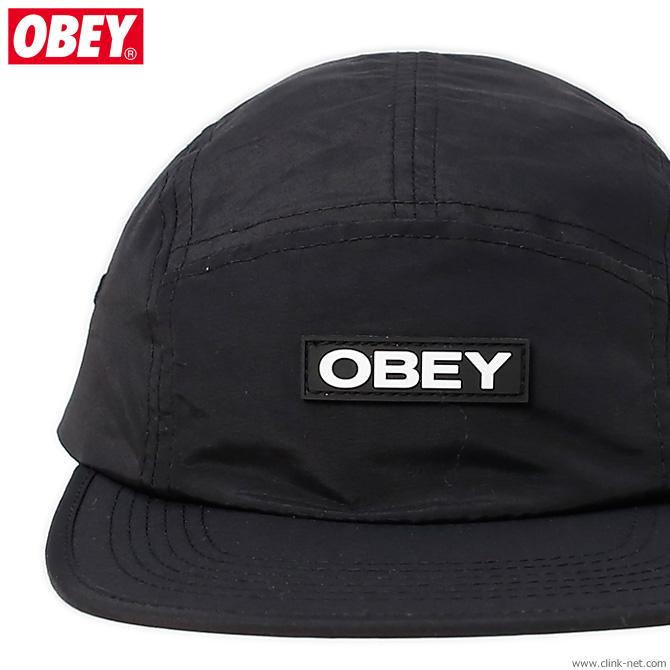 OBEY DEPOT 5 PANEL HAT (BLACK)