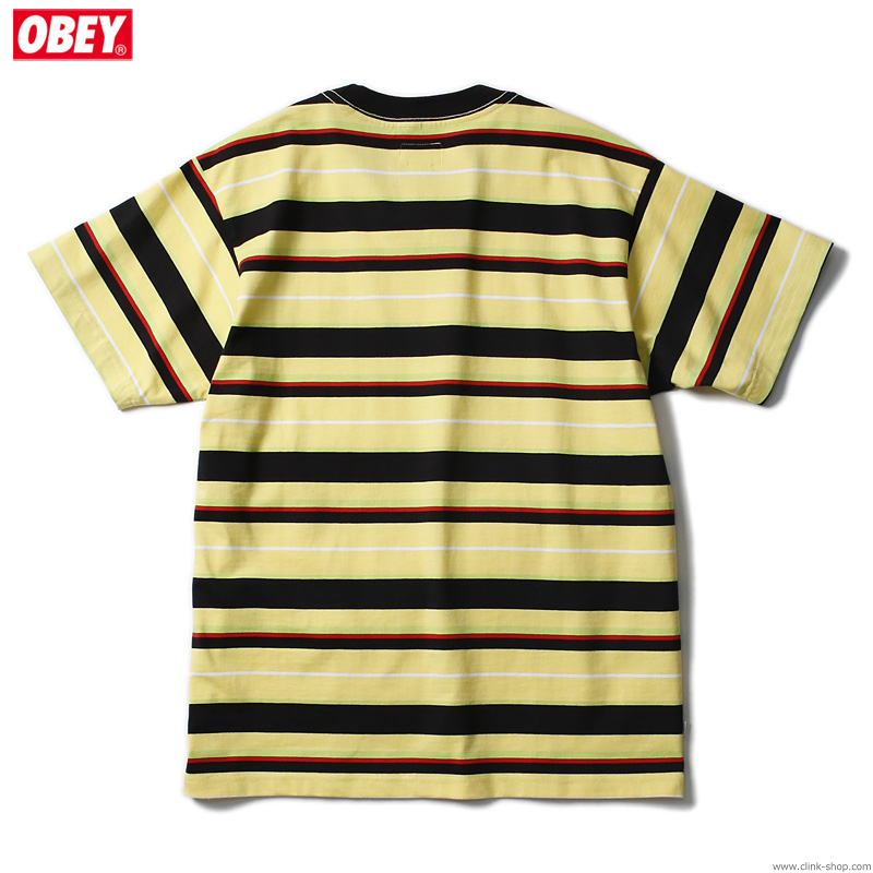 OBEY IDEALS ORGANIC DALE TEE SS (YELLOW MULTI)