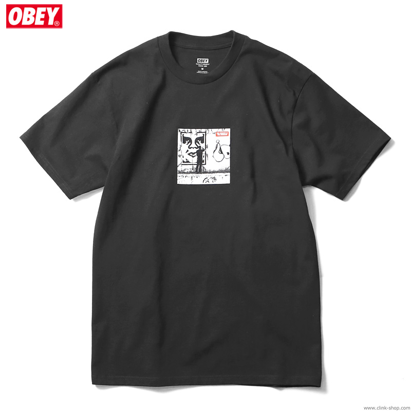 "OBEY CLASSIC TEE ""OBEY THE MEDIUM THE MEESSAGE"" (BLACK) [SHEPARD FAIREY COLLECTION]"