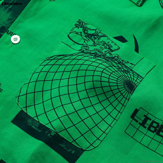 LIBERAIDERS SPACE RACE SHIRT (GREEN ) #71201