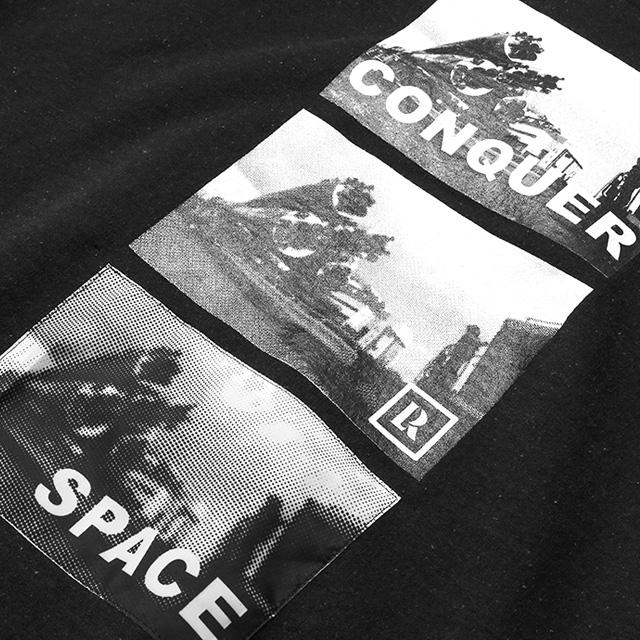 LIBERAIDERS SPACE ROCKET PULLOVER HOODIE (BLACK) #71303