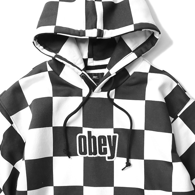 OBEY GUSTO HOOD (CHECKER)