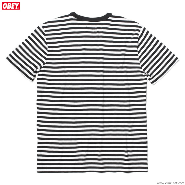OBEY 89 ICON STRIPE BOX TEE SS (BLACK MULTI)