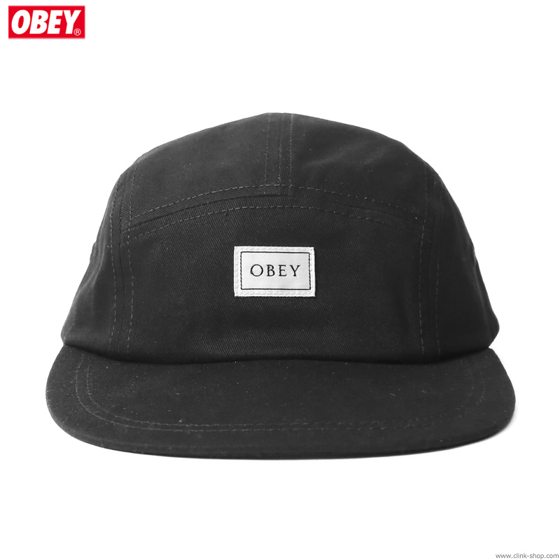 OBEY IDEALS ORGANIC 5 PANEL HAT (BLACK)