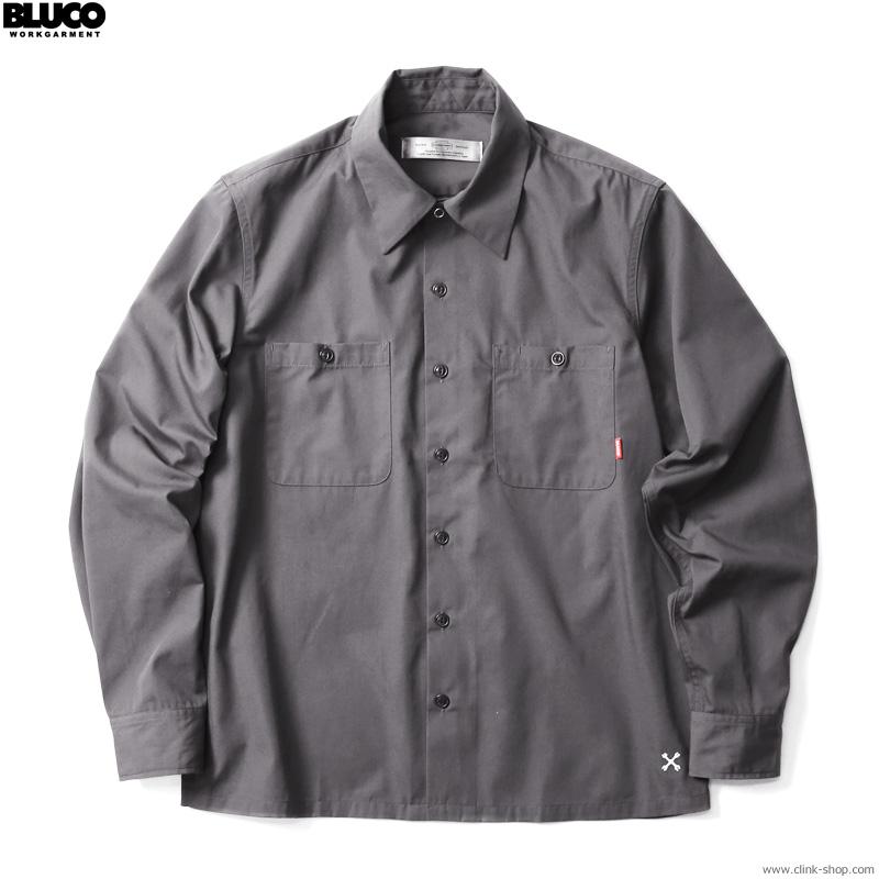 BLUCO STANDARD WORK SHIRTS L/S (GRAY) [OL-109-021]