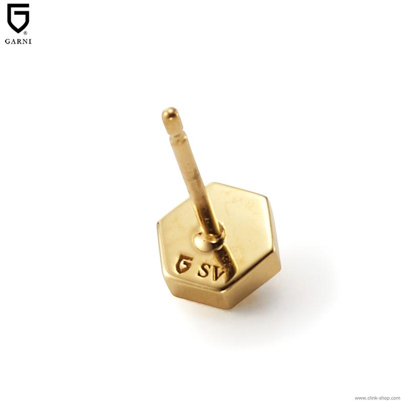 GARNI HONEYCOMB STUDS PIERCE (GOLD) [GP20006]