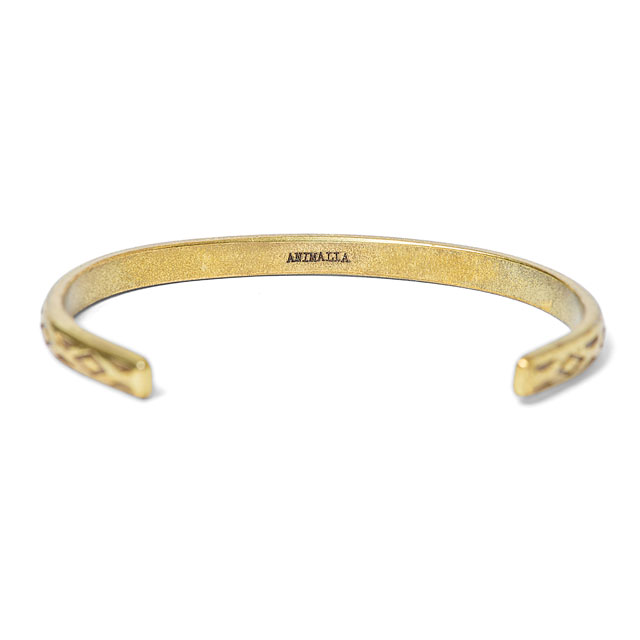 ANIMALIA WARRIOR BANGLE (BRASS) [AN17S-AC03]