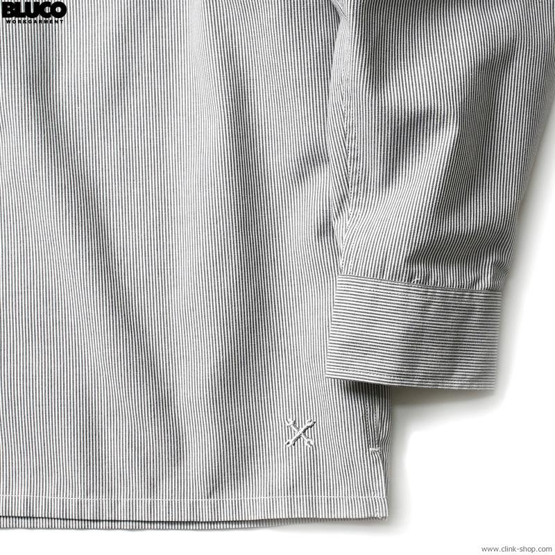 BLUCO STANDARD WORK SHIRTS L/S (L.GY-GY.STP) [OL-109-021]