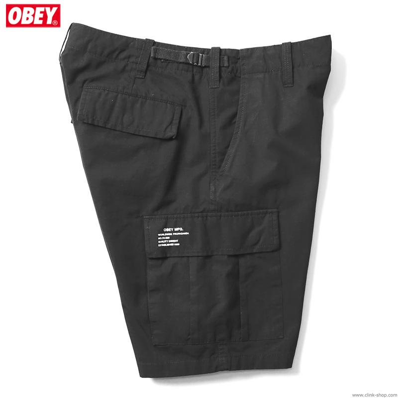 OBEY RECON CARGO SHORT II (BLACK)