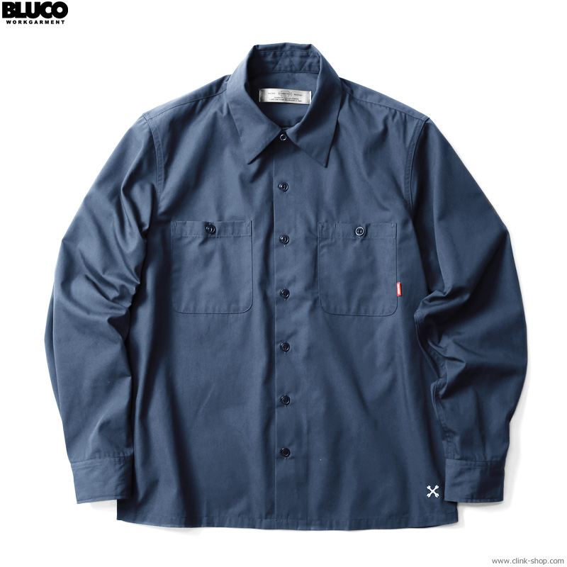 BLUCO STANDARD WORK SHIRTS L/S (NAVY) [OL-109-021]
