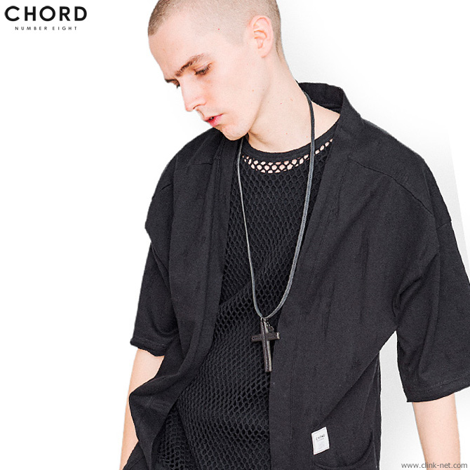 CHORD NUMBER EIGHT WARRIORS CROSS NECKLACE (BLACK) [N8M1G3-AC01]