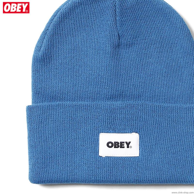 OBEY BOLD LABEL ORGANIC BEANIE (BLUE SAPPHIRE)