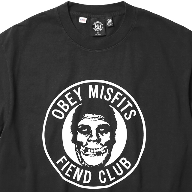 "★SALE★ OBEY HEAVYWEIGHT BOX TEE ""THE OBEY FIEND CLUB"" (OFF BLACK)"