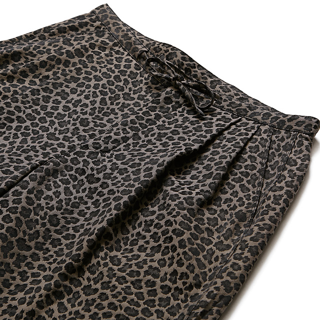 CHORD NUMBER EIGHT LEOPARD WIDE SHORTS (BROWN) [N8M1G3-PT05]