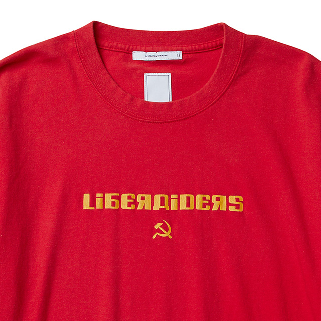 LIBERAIDERS HAMMER AND SICKLE LOGO TEE (RED) #71606