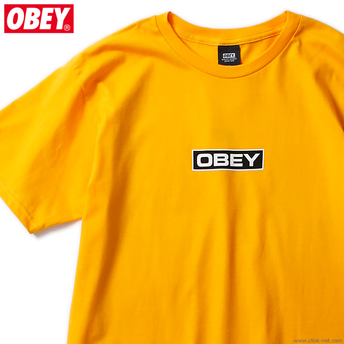 "OBEY BASIC TEE ""DEPOT"" (GOLD)"