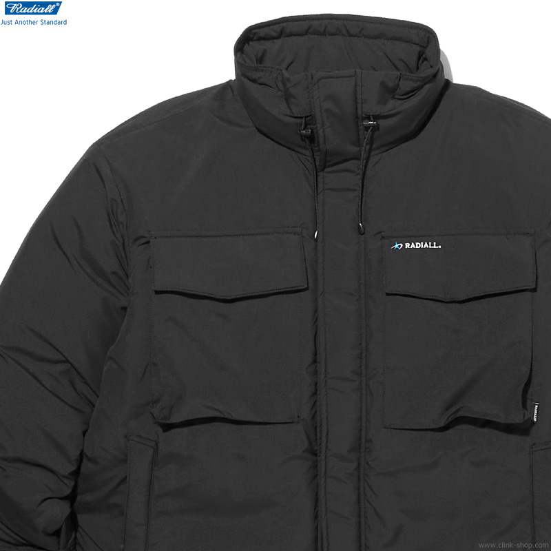 RADIALL LAPAZ - STAND COLLARED DOWN JACKET (BLACK)