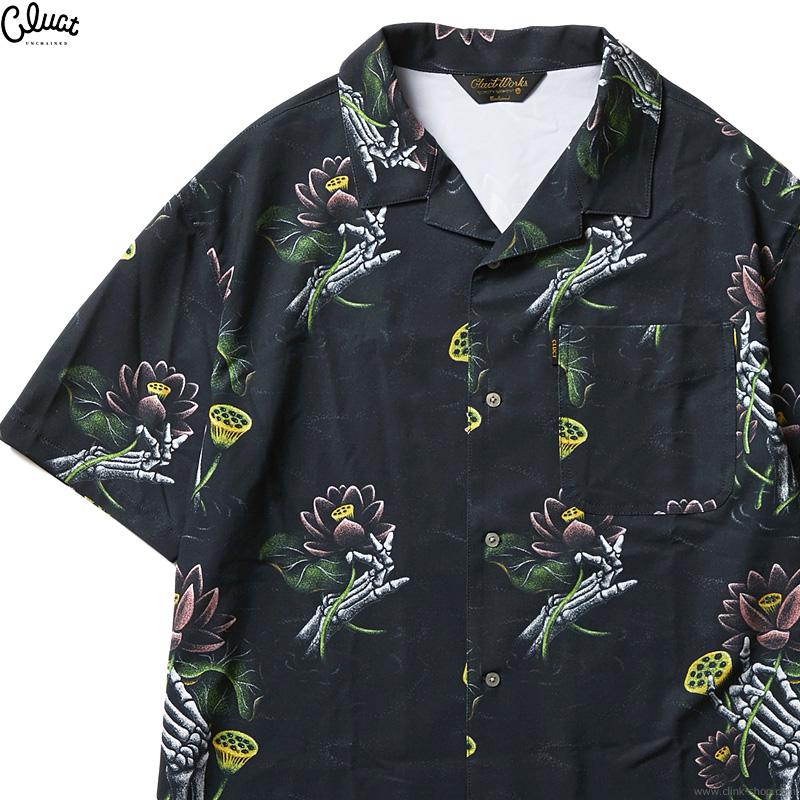 CLUCT LOTUS ORIGINAL PATTERN SHIRTS (BLACK) #04258
