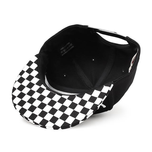 ANIMALIA LOGO SNAPBACK CAP (CHECKER×BLACK) [AN17SP-CP01]