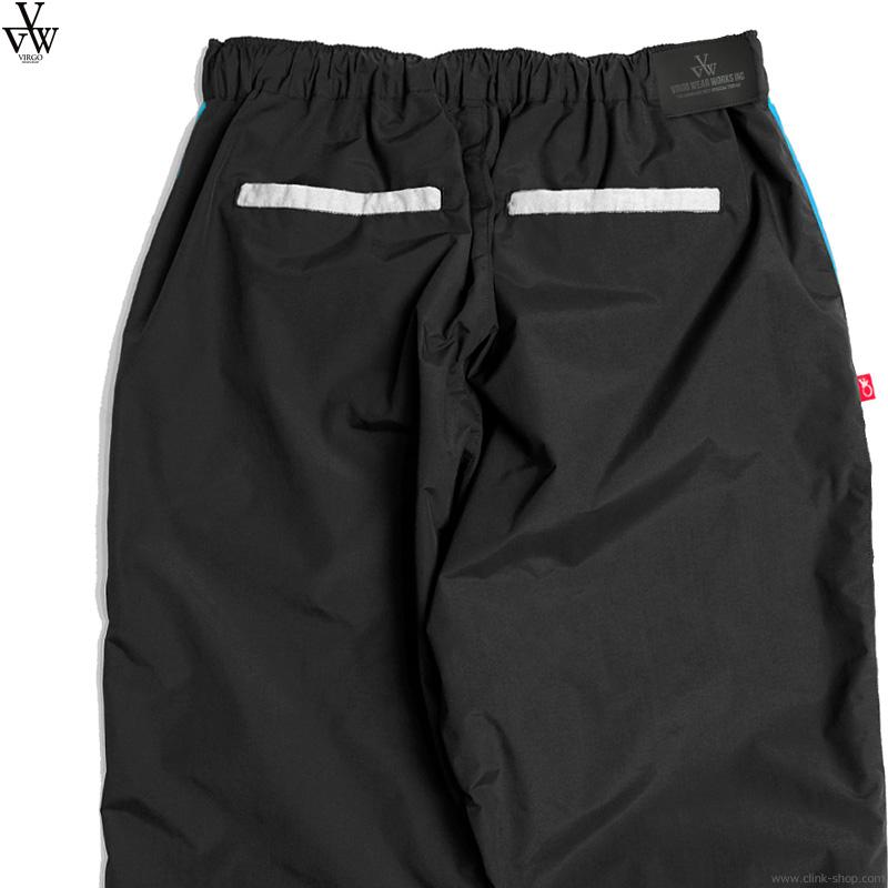 VIRGO WACKY COLOR TRACK PANTS (BLACK) [VG-PT-346]