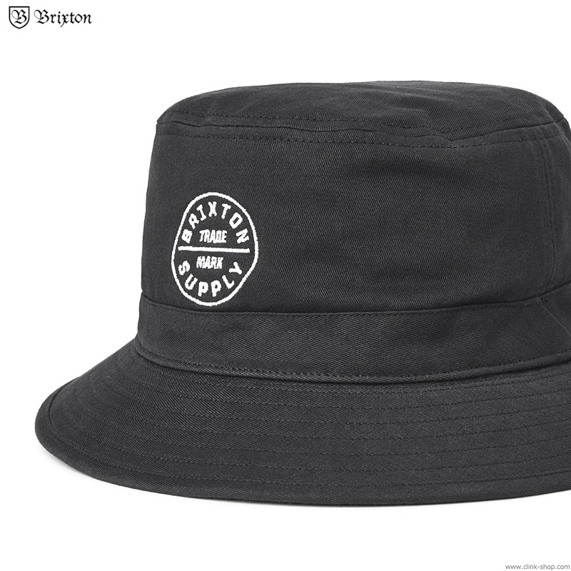 BRIXTON OATH BUCKET HAT (BLACK)