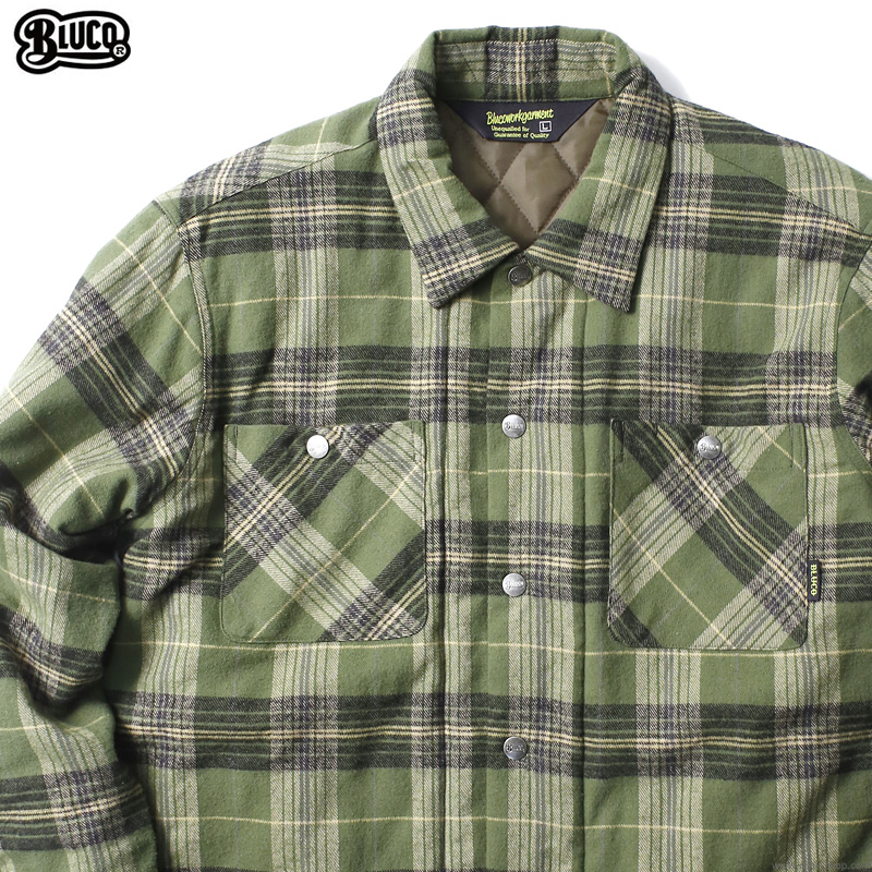 BLUCO QUILTING SHIRTS (OLIVE) [OL-046-020]