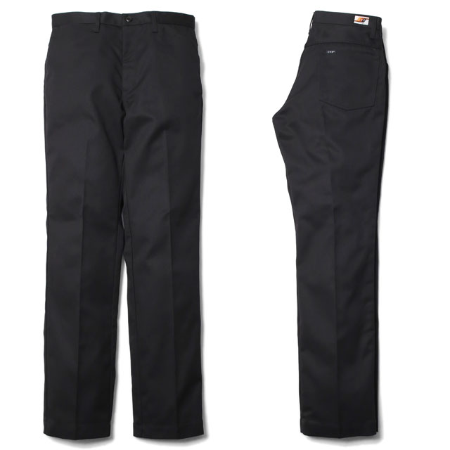 RADIALL CVS WORK PANTS -STRAIGHT FIT- (BLACK)