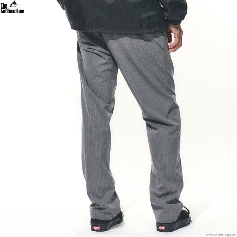 SOFTMACHINE BIVOUAC STRIPE PANTS (GRAY)