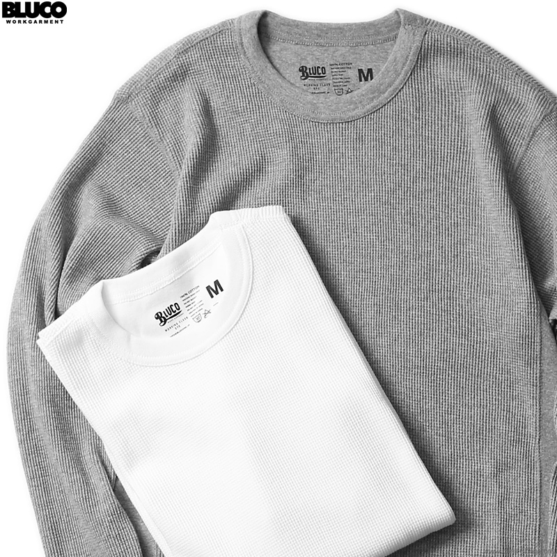 BLUCO 2PAC THERMAL SHIRTS -Set in- A-PACK (IVO/ASH) [OL-014-021]