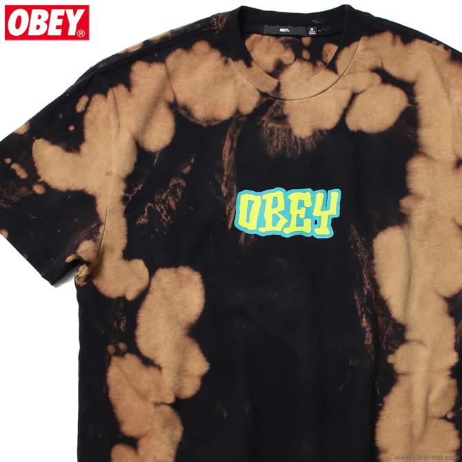 """OBEY BLEACH TIE DYE TEE """"BETTER DAYS"""" (BLACK)"""