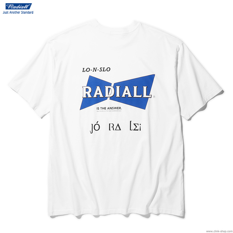 RADIALL BOWTIE - CREW NECK POCKET T-SHIRT S/S (WHITE)